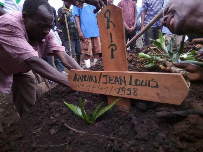 Security forces killed 19-year-old Jean Louis Kandiki during demonstrations in Goma on October 30, 2017.