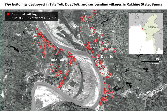 746 buildings destroyed in Tula Toli