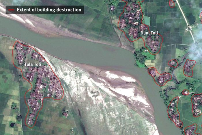 Extent of building destruction