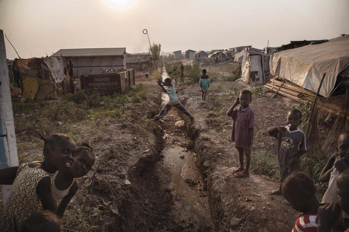 For many people with physical or sensory disabilities, the environment of the M'Poko camp for internally displaced people in Bangui, Central African Republic, is hard to navigate. The uneven terrain is speckled with holes and open drains.