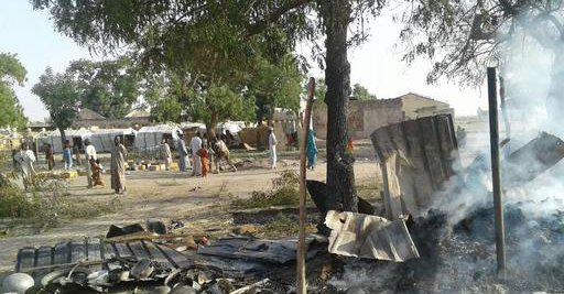A Nigerian fighter jet accidentally bombed a camp for displaced people on Tuesday while searching for Boko Haram militants.