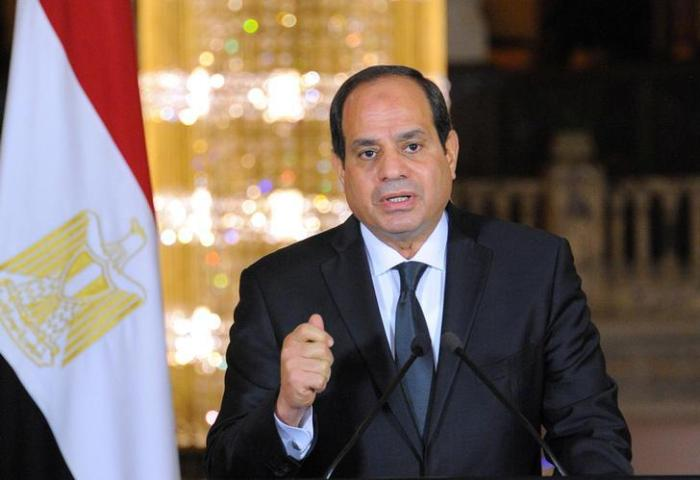 Egyptian President Abdel Fattah al-Sisi gives an address at the Ittihadiya presidential palace in Cairo, Egypt, May 26, 2017.