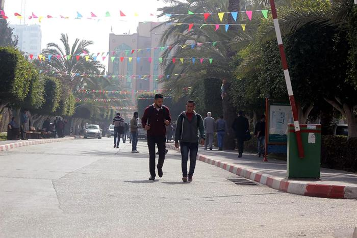 Students at the Islamic University of Gaza.