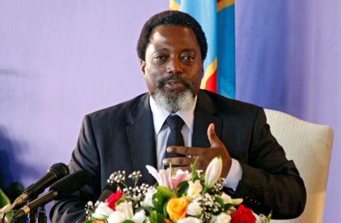 Democratic Republic of Congo's President Joseph Kabila addresses a news conference at the State House in Kinshasa, Democratic Republic of Congo, January 26, 2018.