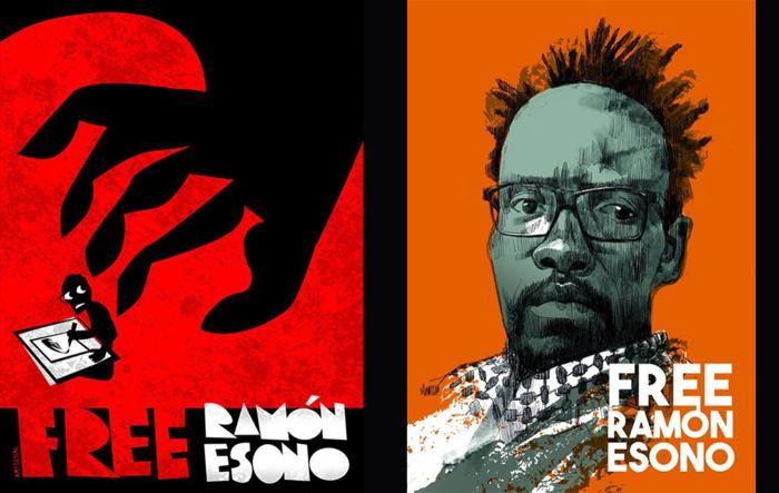 Equatorial Guinea frequently harasses government critics. These cartoons are part of a campaign to free Ramón Nsé Esono Ebalé, a cartoonist who has been in prison since September 2017.