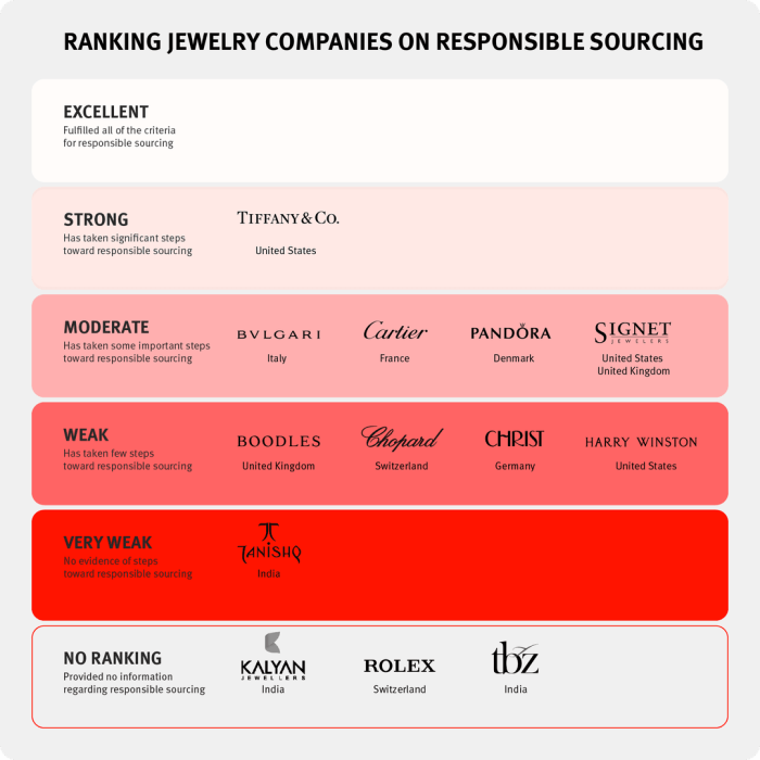 Human Rights Watch assessed 13 companies against seven criteria for responsible sourcing, using information they provided directly and publicly available information.