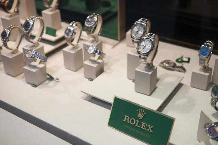 Rolex watches displayed in the window of a store in London, UK, November 2016.
