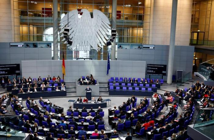 Session of the German lower house of Parliament, Bundestag, in Berlin, February 1, 2018.