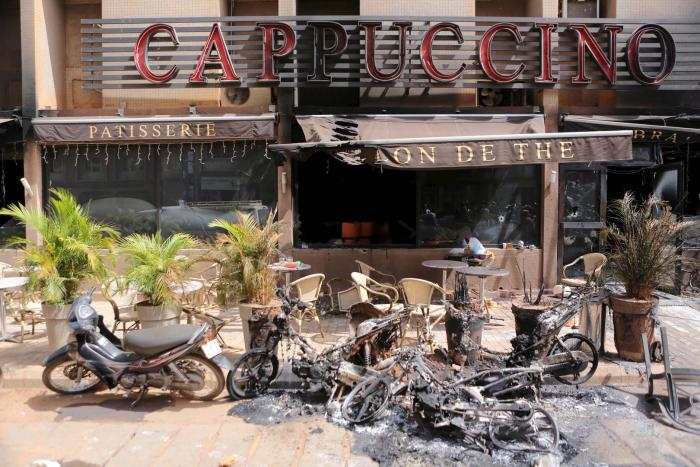 "Armed Islamist groups Al-Qaeda and Al-Mourabitoun claimed the January 15, 2016 attack on the ""Cappuccino"" restaurant and cafe in Ouagadougou, which killed 30 people and left more than 70 wounded."