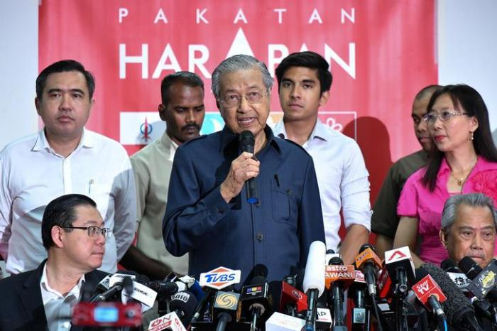 Malaysia's newly elected Prime Minister Mahathir Mohamad attends a news conference in Pataling Jaya, Malaysia, May 12, 2018. © 2018 REUTERS/Stringer