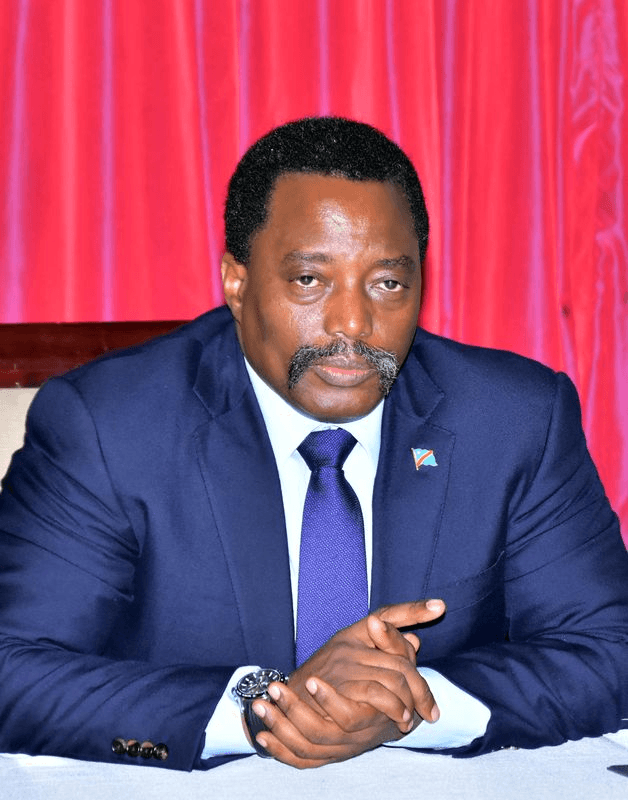 Democratic Republic of Congo's President Joseph Kabila inside his office at the Palais de la Nation building in the capital, Kinshasa, April 3, 2017.
