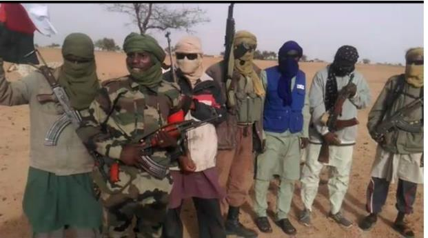Members of the Peuhl Alliance pour le Salut du Sahel (Alliance for the Salvation of the Sahel, or ASS), a militia founded in May 2018 to defend Peuhl communities from attacks by ethnic militias and other armed groups, in central Mali.