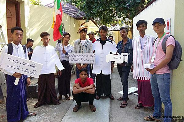 Nine students who performed a satirical anti-war play in Pathein, Ayeyarwady Region, on January 9, 2017, were sued by a military officer for defamation. Eight of the students were convicted in April 2018.
