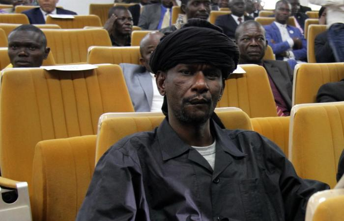 Sidiki Abass (également connu sous le nom de Bi Sidi Souleymane), commandant d'un groupe appelé Retour, Réclamation et Réhabilitation, ou 3R, lors de la cérémonie de signature de l'accord de paix à Bangui, République centrafricaine, le 6 février 2019.