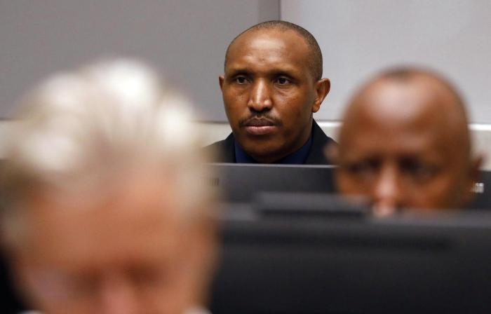 Bosco Ntaganda sits in the courtroom of the International Criminal Court