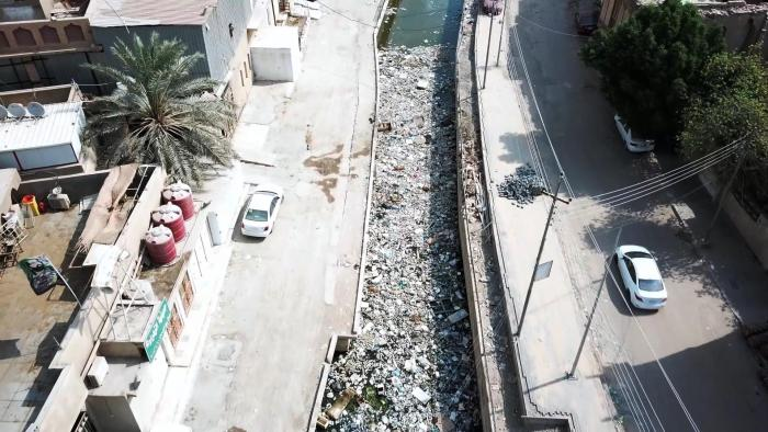 Drone footage taken by the Norwegian Refugee Council in Basra city in October 2018. © 2018 Norwegian Refugee Council
