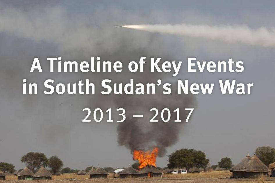 Key Events in South Sudan's New War
