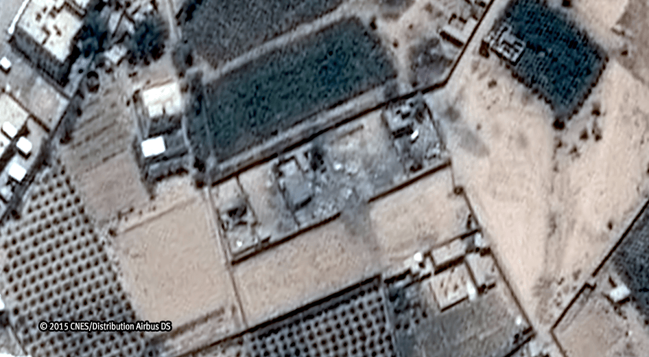 Satellite image after airstrike