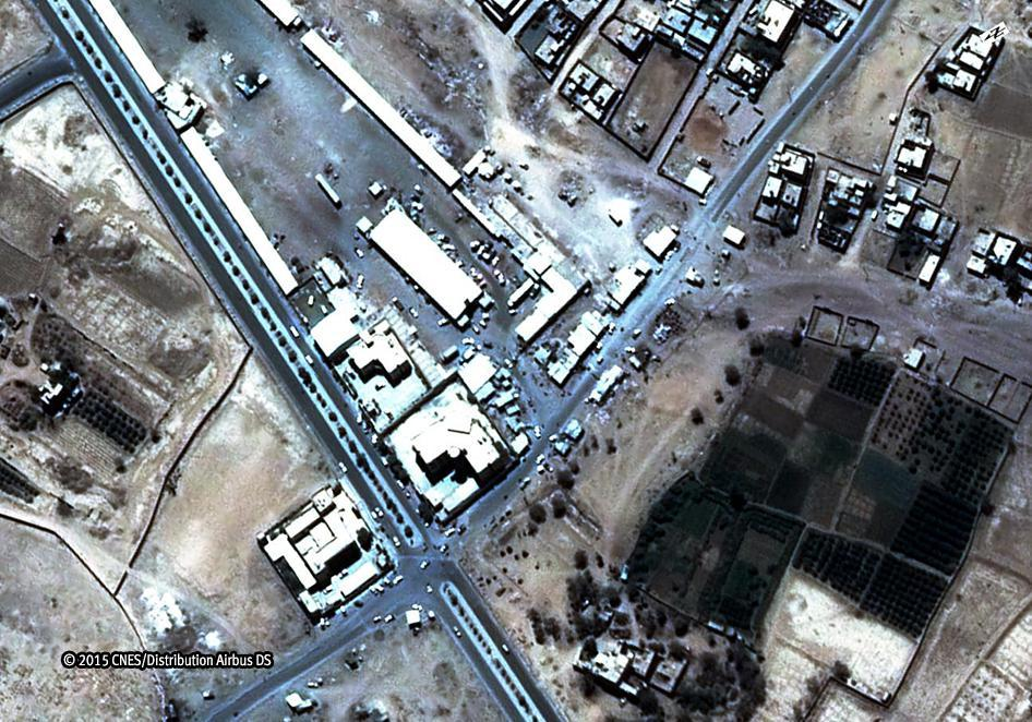 Satellite image before airstrike