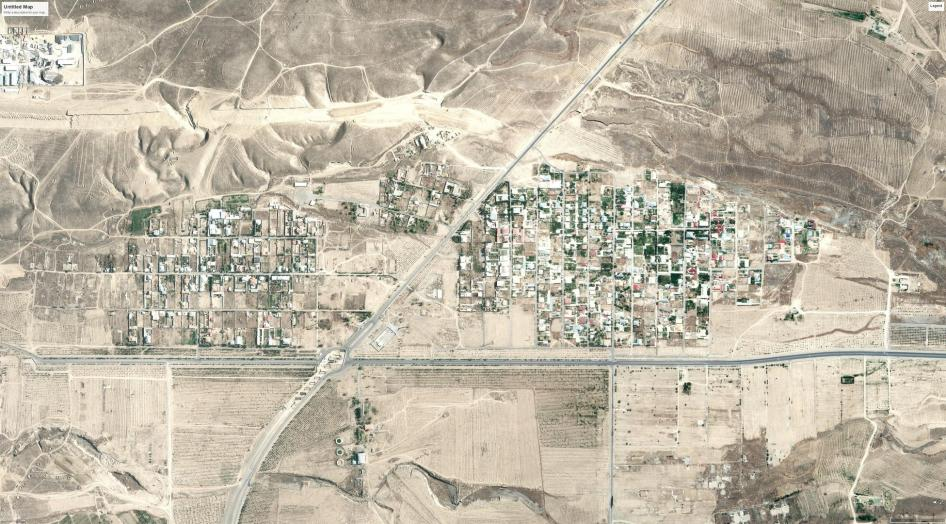 Satellite imagery showing before demolitions occurred in Turkmenistan