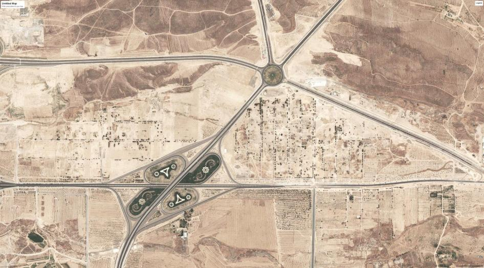 Satellite imagery showing after demolitions occurred in Turkmenistan