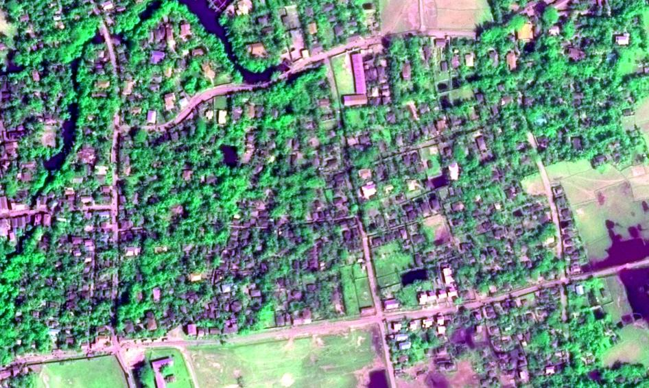 Maungdaw Township Before and After Arson
