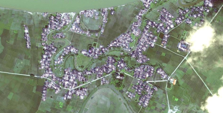Satellite imagery recorded after the destruction of Myar Zin village.
