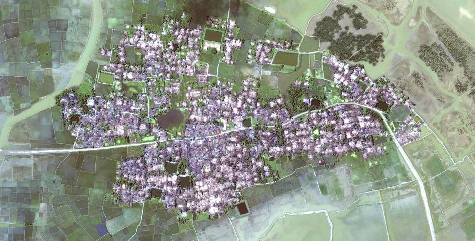 Satellite imagery recorded after the destruction of Yae Twin Kyun village.
