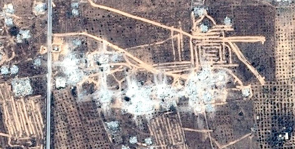 Before and After Satellite Imagery Shows Building Demolition in Northern Sinai