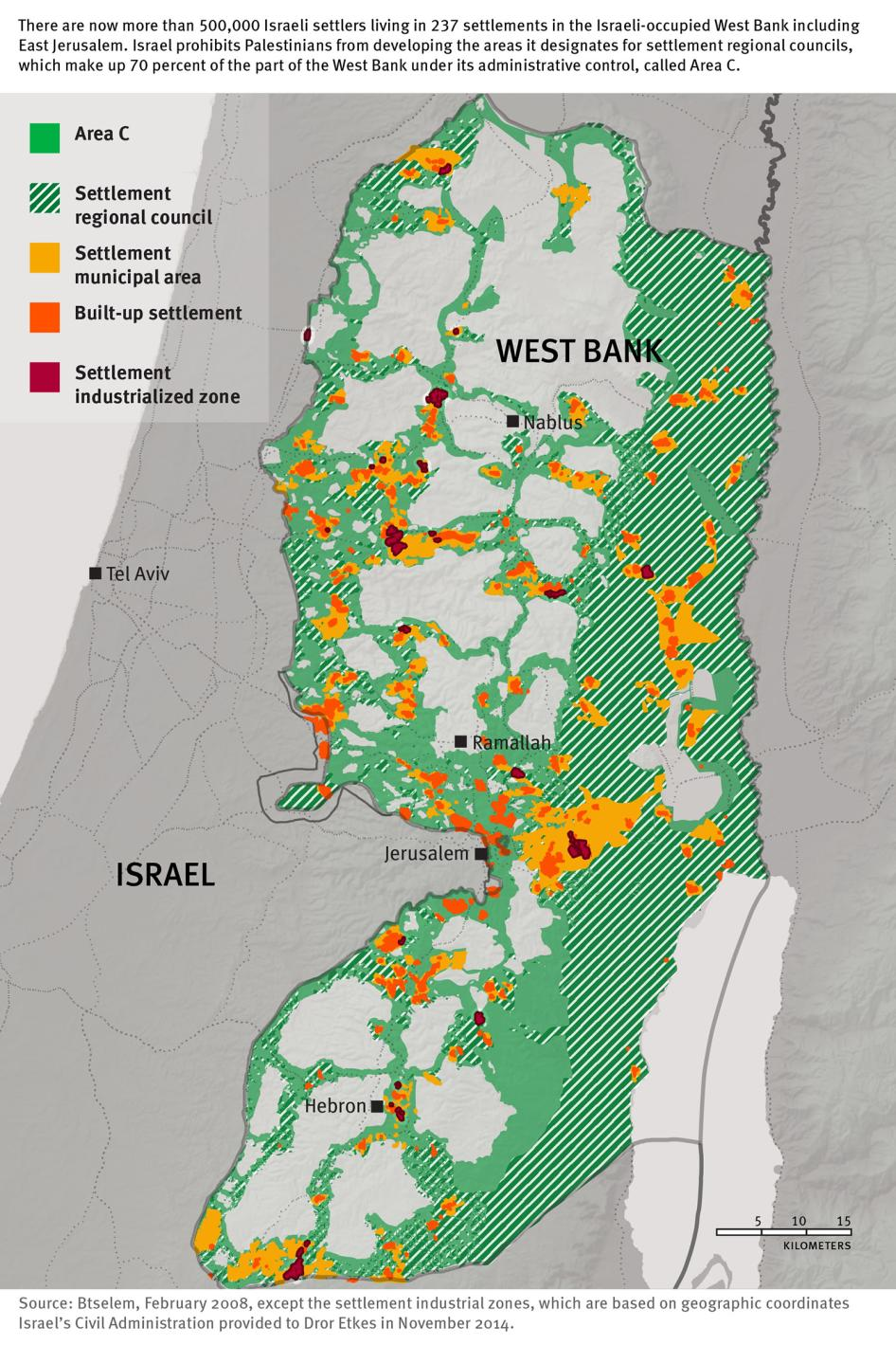 Map of Israel/Palestine
