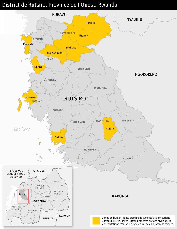 District de Rutsiro, Province de l'Ouest, Rwanda