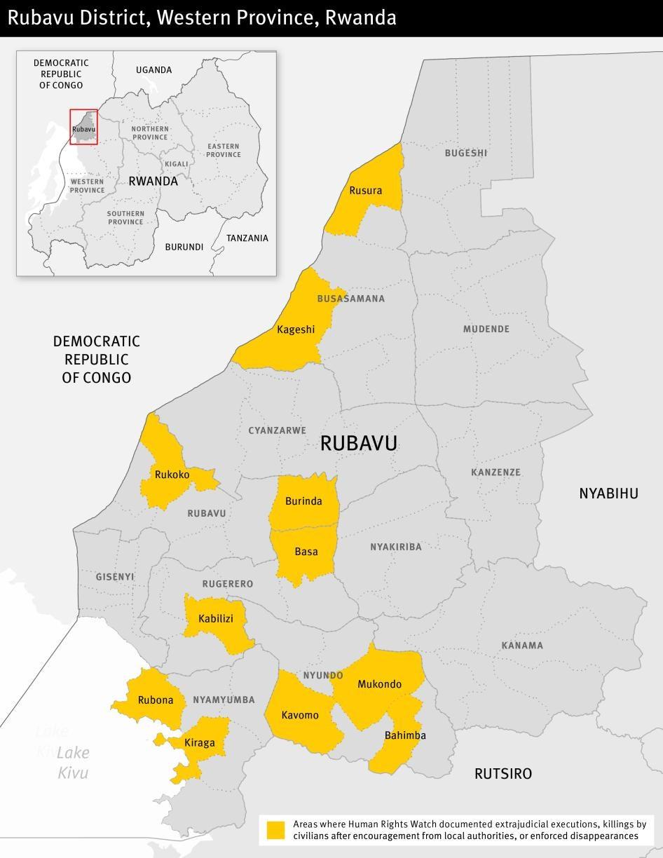 Map of Rubavu district in Rwanda