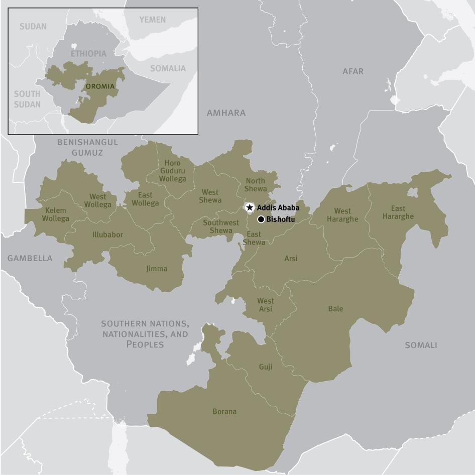 Map of the Oromia Region of Ethiopia