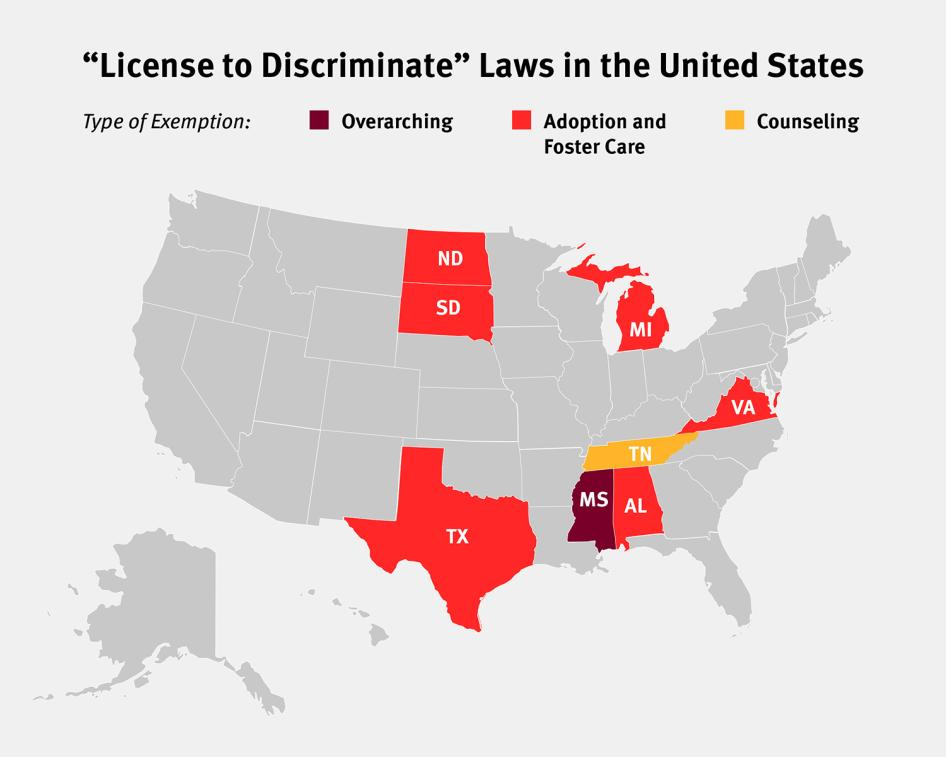Homosexual discrimination in the constitution of the united states