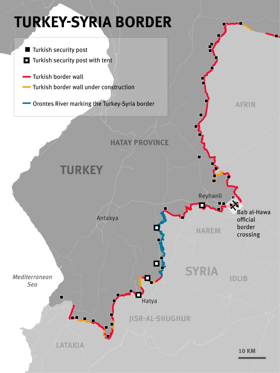 Map of the Turkey-Syria Border.