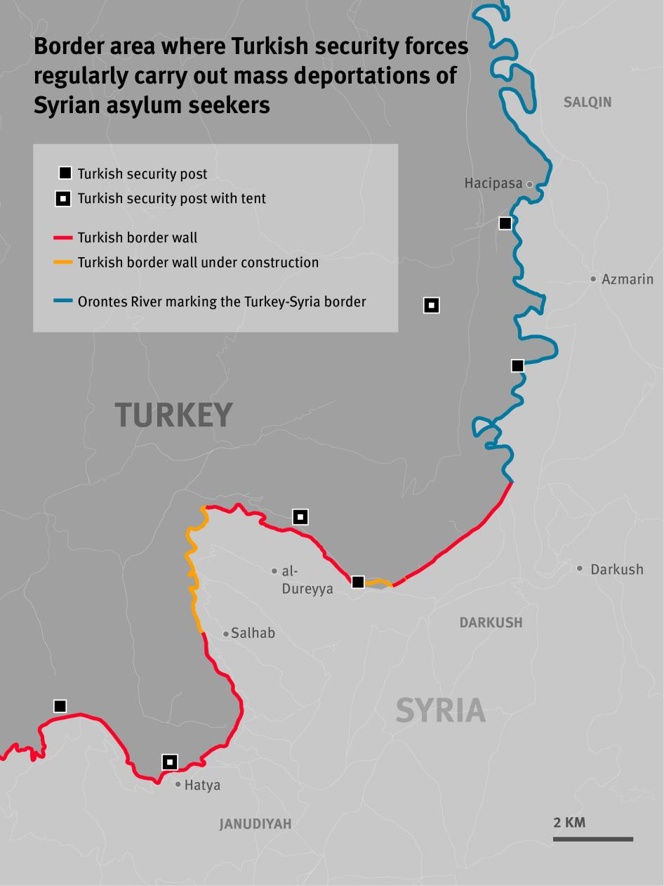 Border area where Turkish security forces regularly carry out mass deportations of Syrian asylum seekers.