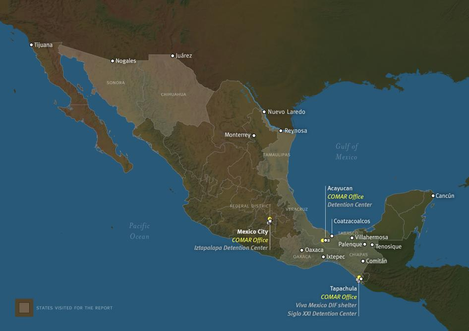 Map of Mexico Mexicou0027s Failure to Protect