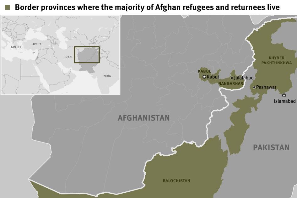 Map of Pakistan Border Provinces