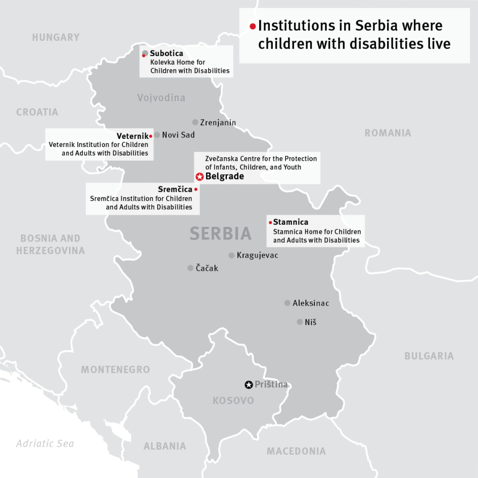 Map of Serbia