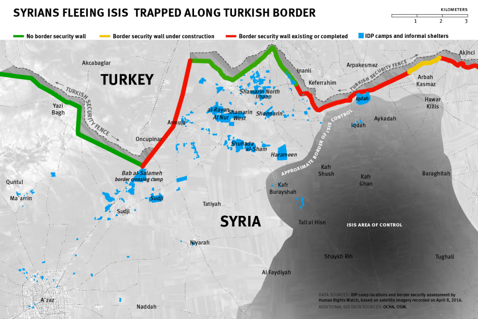 Turkey Open Borders To Syrians Fleeing ISIS Human Rights Watch - Where is syria and turkey