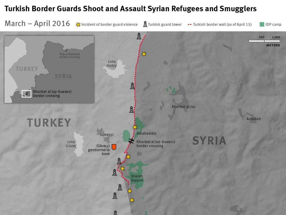 Turkish Border Guards Shoot and Assault Syrian Refugees and Smugglers