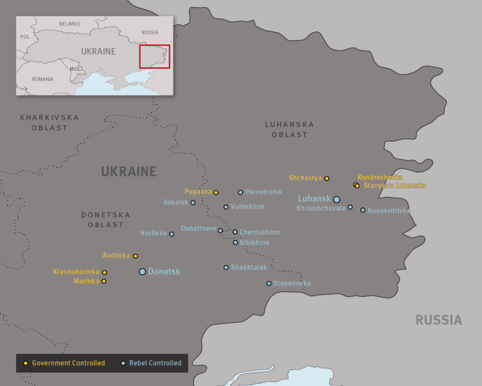 Map of Ukraine Attacks on Schools Military