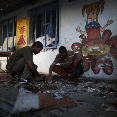 人権ウォッチ:ガザ、戦火のなかの学校