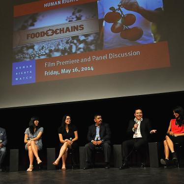 HRW FILM CLUB HOSTS LOS ANGELES PREMIERE OF FOOD CHAINS