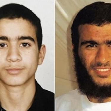 US: Khadr Sentencing Should Reflect Juvenile Status