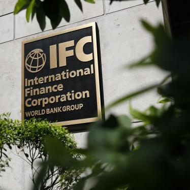 In this June 12, 2019 photo, a sign marks an entrance to the International Finance Corporation building in Washington.
