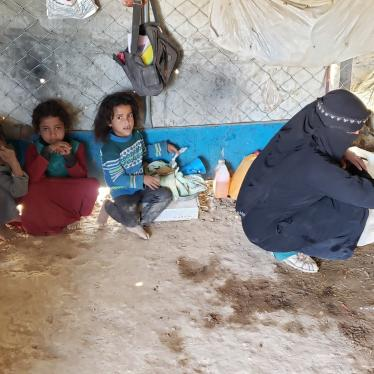 A displaced family in their tent in al-Sowida camp for internally displaced people in Marib governorate, north Yemen, February 2020.