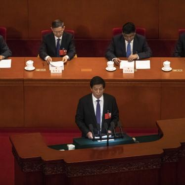 Li Zhanshu, National People's Congress Chairman delivers a speech during the second plenary session of China's National People's Congress (NPC) at the Great Hall of the People in Beijing, May 25, 2020.