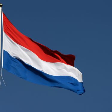 The Dutch flag flies at the parliament in The Hague, Netherlands, March 16, 2017.