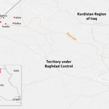 Map of five villages in Rabia subdistrict that the Kurdistan Regional Government has prevented Arab residents from returning to.